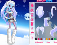 Monster High Abbey Bominable dressup online játék
