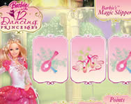 Barbies magic slippers játék